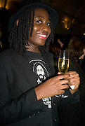 HELEN OYEYEMI, party to celebrate the 100th issue of Granta magazine ( guest edited by William Boyd.) hosted by Sigrid Rausing and Eric Abraham. Twentieth Century Theatre. Westbourne Gro. London.W11  15 January 2008. -DO NOT ARCHIVE-© Copyright Photograph by Dafydd Jones. 248 Clapham Rd. London SW9 0PZ. Tel 0207 820 0771. www.dafjones.com.