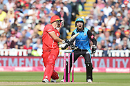 Lancashires Liam Livingstone (Capt) during the Vitality T20 Finals Day semi final 2018 match between Worcestershire Rapids and Lancashire Lightning at Edgbaston, Birmingham, United Kingdom on 15 September 2018.