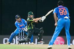 © Licensed to London News Pictures. 28/09/2012. Australian Shane Watson batting during the T20 Cricket World cup match between Australia Vs India at the R.Premadasa Cricket Stadium,Colombo. Photo credit : Asanka Brendon Ratnayake/LNP