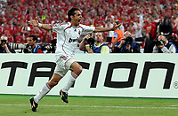 Photo: Paul Thomas.<br /> AC Milan v Liverpool. UEFA Champions League Final. 23/05/2007.<br /> <br /> Filippo Inzaghi of Milano celebrates.