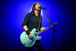 Dave Grohl of the Foo Fighters performing on the Pyramid Stage during the Glastonbury Festival at Worthy Farm in Pilton, Somerset. Picture date: Saturday June 24th 2017. Photo credit should read: Matt Crossick/ EMPICS Entertainment.
