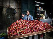 Man Sells Strawberries Old City, Jerusalem