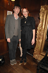 PEARL LOWE and musician DANNY GOFFEY at a tea party to launch Pearl Lowe's Spring 2007 fashion collection held at Libery, Great Marlborough Street, London on 20th March 2007.<br />