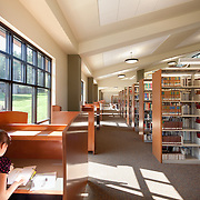 The Library at Father River College, Quincy CA Education Infrastructure Architectural Example of Chip Allen Photography.