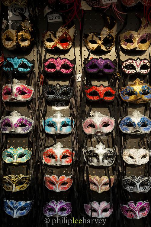 Venetian masks for sale, Venice, Italy, Europe