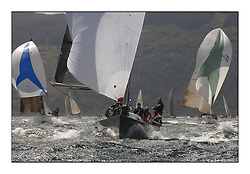 Day 2 of the Bell Lawrie Scottish Series with wild conditions on Loch Fyne for all fleets. Exhilarating and testing racing for Boats and crew...Mumm 36, Class 2, GBR4334L, Absolutely 2.