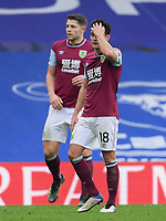 Football - 2020 / 2021 Premier League - Chelsea vs Burnley - Stamford Bridge<br /> <br /> Burnley's Ashley Westwood dejected as Chelsea's Marcos Alonso scores his side's second goal.<br /> <br /> COLORSPORT/ASHLEY WESTERN