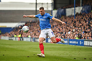 Portsmouth Defender, Lee Brown (3) during the EFL Sky Bet League 1 match between Portsmouth and Rochdale at Fratton Park, Portsmouth, England on 13 April 2019.