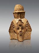 Ancient Egyptian head of a statue  of king Amenhotep III. / Kopf eider statue des Königs Amenophis III. / Egypt 18. Dynasty  (1360BC) Berlin Neues Museum Cat No: VAGM 1997/118.