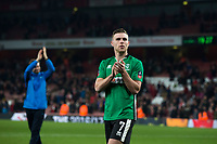 Lincoln City's Jack Muldoon applauds the away fans at full time         <br /> <br /> <br /> Photographer Craig Mercer/CameraSport<br /> <br /> The Emirates FA Cup Sixth Round - Arsenal v Lincoln City - Saturday 11th March 2017 - The Emirates - London<br />  <br /> World Copyright © 2017 CameraSport. All rights reserved. 43 Linden Ave. Countesthorpe. Leicester. England. LE8 5PG - Tel: +44 (0) 116 277 4147 - admin@camerasport.com - www.camerasport.com