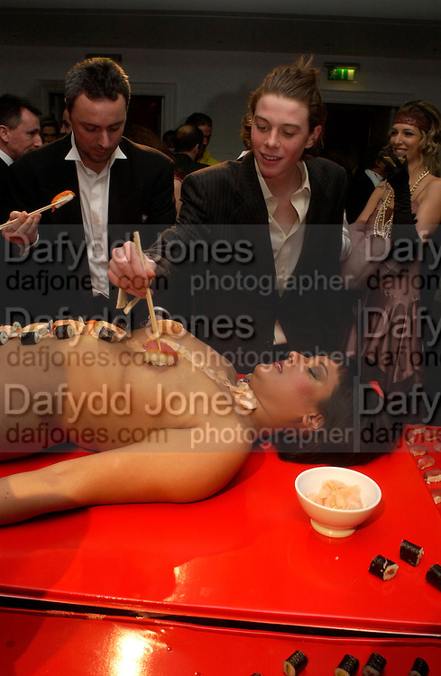 Andy & Patti Wong's Chinese New Year party to celebrate the year of the Rooster held at the Great Eastern Hotel, Liverpool Street, London.29th January 2005. The theme was a night of hedonism in 1920's Shanghai. . ONE TIME USE ONLY - DO NOT ARCHIVE  © Copyright Photograph by Dafydd Jones 66 Stockwell Park Rd. London SW9 0DA Tel 020 7733 0108 www.dafjones.com
