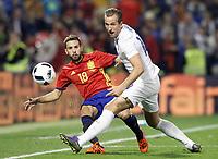 Spain's Jordi Alba (l) and England's Harry Kane during international friendly match. November 13,2015.(ALTERPHOTOS/Acero)