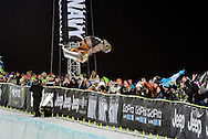 Danny Davis wins the gold medal n the men's snowboard superpipe at the Winter X Games in Aspen, Colorado.
