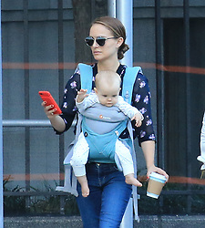 EXCLUSIVE: Natalie Portman walks the streets of New York with her Daughter Amalia and her Mother Shelley. Amalia looked very content sitting in front of her famous Mom while Natile was sipping on a coffee. The threesome looked relaxed as they enjoyed the late afternoon sun before going into an apartment building. 10 Oct 2017 Pictured: Natalie Portman walks the streets of New York with her Daughter Amalia and her Mother Shelley. Photo credit: MEGA TheMegaAgency.com +1 888 505 6342