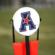 ORLANDO, FL - OCTOBER 09: The American Athletic Conference logo is seen on a down marker at Bright House Networks Stadium on October 9, 2014 in Orlando, Florida. (Photo by Alex Menendez/Getty Images) *** Local Caption *** AAC