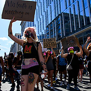 Thousands of Black Lives Matter Protesters march from multiple locations and descended onto the newly name Black Lives Matter plaza on 16th and H Street to protest of the killing of George Floyd in police custody.