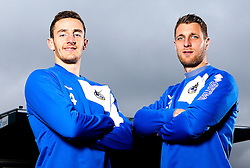 Tom Lockyer and Lee Brown of Bristol Rovers pose for a portrait - Mandatory by-line: Robbie Stephenson/JMP - 15/04/2016 - FOOTBALL - The Memorial Ground - Bristol, England -  v  - Bristol Rovers Portraits