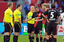 23.10.2011,  BayArena, Leverkusen, GER, 1.FBL, Bayer 04 Leverkusen vs Schalke 04, im Bild.Leverkusener entaeuscht / entäuscht / traurig bei Schiedsrichter Zwayer..// during the 1.FBL, Bayer Leverkusen vs Schalke 04 on 2011/10/23, BayArena, Leverkusen, Germany. EXPA Pictures © 2011, PhotoCredit: EXPA/ nph/  Mueller       ****** out of GER / CRO  / BEL ******