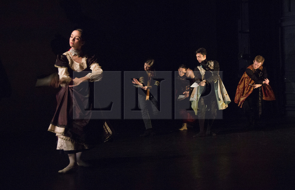 """© Licensed to London News Pictures. 14/11/2011. London, England. Yolande Yorke-Edgell's """"Noted"""" performed for the Yorke Dance Project at the Lilian Baylis Studio at Sadler's Wells on 14 and 15 November 2012. The project is based on letters spanning five centuries by historic and iconic figures such as Johann Sebastian Bach or Hunter S Thompson. Photo credit: Bettina Strenske/LNP"""