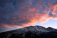 Approaching storm at sunset over Wheeler Peak, Great Basin National Park Nevada USA