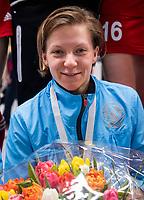 HAMBURG  (Ger) - Match 20,  for FINAL, LMHC Laren - Dinamo Elektrostal (Rus) (3-1).  Photo: goalkeeper Viktoriia Aleksandrina (Elektr.) , got the award, best keeper. .   Eurohockey Indoor Club Cup 2019 Women . WORLDSPORTPICS COPYRIGHT  KOEN SUYK