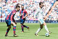 "Real Madrid's Francisco Roman ""Isco"" and Levante's David Remeseiro 'Jason' during La Liga match between Real Madrid and Levante UD at Santiago Bernabeu Stadium in Madrid, Spain September 09, 2017. (ALTERPHOTOS/Borja B.Hojas)"