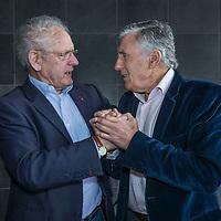 Nederland, Amsterdam, 22 februari 2017.<br />Sjaak Swart en Henny Weering, oud-spelers van respectievelijk Ajax en Leeuwarden (Cambuur)<br /><br /><br /><br />Foto: Jean-Pierre Jans