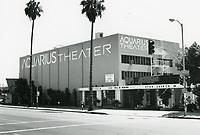 1987 Aquarius Theater on Sunset Blvd. at Argyle St.