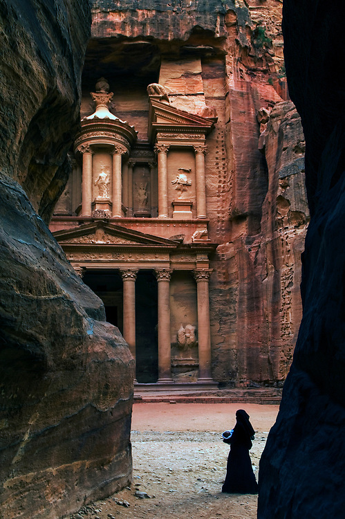 The Nabatean tombs of Petra, Jordan, were taken over by the Romans as they lay on the old frankincense trade routes
