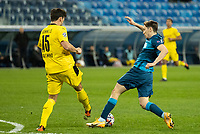 SAINT PETERSBURG, RUSSIA - DECEMBER 08: Daler Kuzyaev of Zenit St. Petersburg charges down Matt Hummels clearance for Borussia Dortmund during the UEFA Champions League Group F stage match between Zenit St. Petersburg and Borussia Dortmund at Gazprom Arena on December 8, 2020 in Saint Petersburg, Russia. (Photo by MB Media)