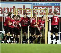 Fotball<br /> Belgia 2004/05<br /> FC Brussel v KV Oostende<br /> 10. november 2004<br /> Foto: Digitalsport<br /> NORWAY ONLY<br /> Bjørn Helge Riise, Brussel, jubler for scoring