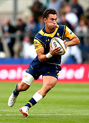 Nick David of Worcester Warriors runs with the ball - Mandatory by-line: Robbie Stephenson/JMP - 29/07/2017 - RUGBY - Franklin's Gardens - Northampton, England - Worcester Warriors v Gloucester Rugby - Singha Premiership Rugby 7s