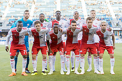 June 13, 2018 - San Jose, CA, U.S. - SAN JOSE, CA - JUNE 13: New England Revolution players pose before the MLS game between the New England Revolution and the San Jose Earthquakes on June 13, 2018, at Avaya Stadium in San Jose, CA. The game ended in a 2-2 tie. (Photo by Bob Kupbens/Icon Sportswire) (Credit Image: © Bob Kupbens/Icon SMI via ZUMA Press)