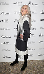 Daphne Selfe, 87, at the start of Fifty Plus Fashion Week at Cafe Royal in London, launched by retailer JD Williams.