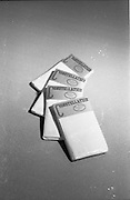20-25/05/1966<br /> 05/20-25/1966<br /> 20-25 May 1966<br /> Competition prizes photographed at Lensmen Studio for Esso (Ireland) Ltd. Constellation (Gentex) pillow cases.