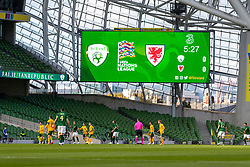 DUBLIN, REPUBLIC OF IRELAND - Sunday, October 11, 2020: A general view during the UEFA Nations League Group Stage League B Group 4 match between Republic of Ireland and Wales at the Aviva Stadium. The game ended in a 0-0 draw. (Pic by David Rawcliffe/Propaganda)
