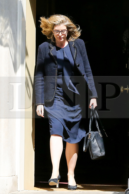 © Licensed to London News Pictures. 30/04/2019. London, UK. Penny Mordaunt - Secretary of State for International Development and Equalities Minister departs from No 10 Downing Street after attending the weekly Cabinet meeting. Photo credit: Dinendra Haria/LNP