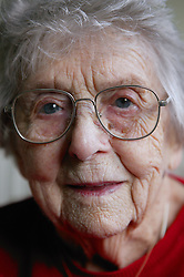 Portrait of an elderly Woman in sheltered accommodation,