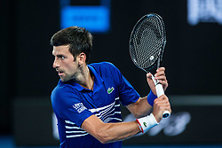 January 17, 2019 - Melbourne, VIC, U.S. - MELBOURNE, VIC - JANUARY 17: NOVAK DJOKOVIC (SRB) during day four match of the 2019 Australian Open on January 17, 2019 at Melbourne Park Tennis Centre Melbourne, Australia (Photo by Chaz Niell/Icon Sportswire) (Credit Image: © Chaz Niell/Icon SMI via ZUMA Press)