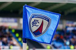 A Chesterfield corner flag - Mandatory by-line: Ryan Crockett/JMP - 14/04/2018 - FOOTBALL - Proact Stadium - Chesterfield, England - Chesterfield v Mansfield Town - Sky Bet League Two