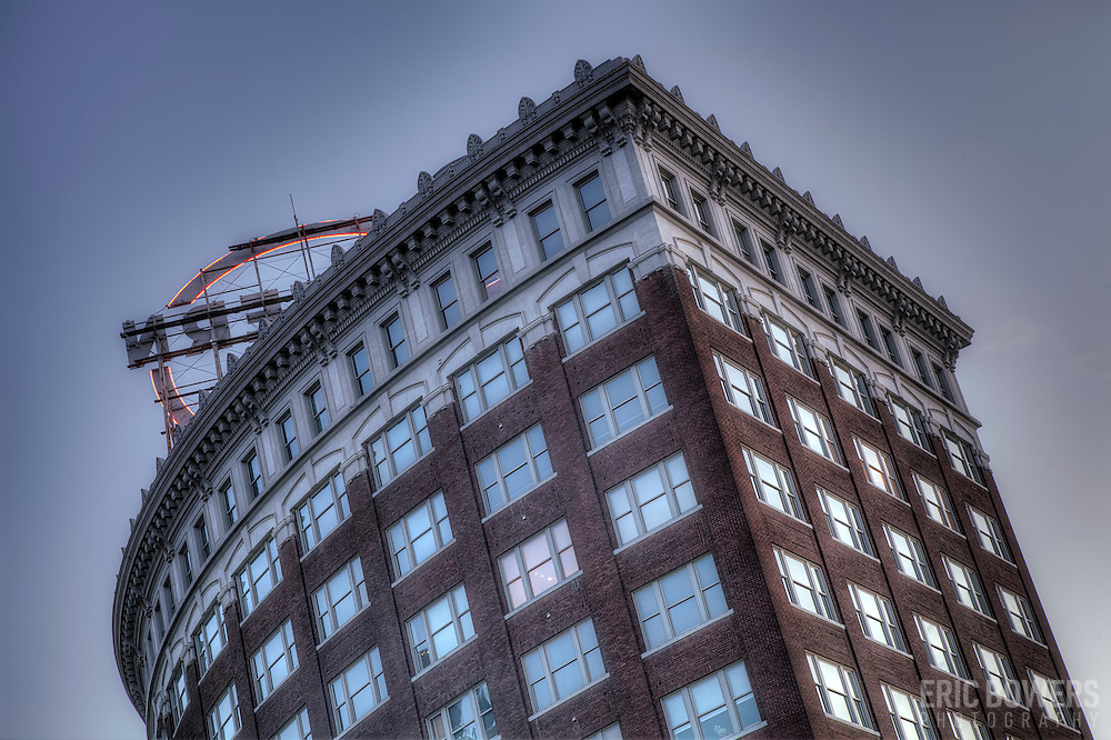 View from McGee Street of the east facing side of the Western Auto Lofts Building in downtown Kansas City, Missouri.
