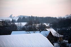 CZECH REPUBLIC VYSOCINA NEDVEZI 27JAN12 - Snowy winter landscape in the village Nedvezi, Vysocina, Czech Republic.....jre/Photo by Jiri Rezac....© Jiri Rezac 2012