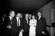 16/11/1966<br /> 11/16/1966<br /> 16 November 1966<br /> O'Brien Plastics Ltd., Bishopstown, Cork reception at the Intercontinental Hotel, Dublin to announce that Phillips Petroleum Company, Oklahoma U.S.A had acquired a 50% interest in O'Brien Plastics. Picture Shows (l-r): Alderman Sean Casey, T.D., Lord Mayor of Cork; Mr. William O'Brien, Mr. Edwin Van Den Bark, Vice President, Phillips Petroleum Co.; Mrs O'Brien and Taoiseach Jack Lynch T.D. at the reception.
