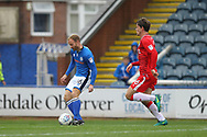 GOAL Matty Done scores 3-0 during the EFL Sky Bet League 1 match between Rochdale and Gillingham at Spotland, Rochdale, England on 23 September 2017. Photo by Daniel Youngs.
