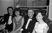 28/04/1965<br /> 04/28/1965<br /> 28 April 1965<br /> Festival of Kerry Dublin Ball at the Gresham Hotel, Dublin. Photo shows (l-r): Mr. Brenden Byrne; Miss Honor Kennedy (Tralee); Mr. Con Kennedy (Tralee), Committee member and Miss Maura O'Doherty (Glenheigh).
