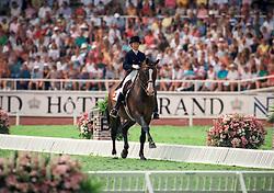 Stuckelberger Christine, (SUI), Gaugin de Lully<br /> World Equestrian Games Stockholm 1990<br /> © Hippo Foto - Dirk Caremans