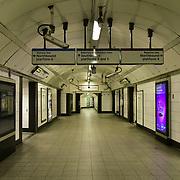 Oxford Circus underground empty on 21 March 2020, UK.