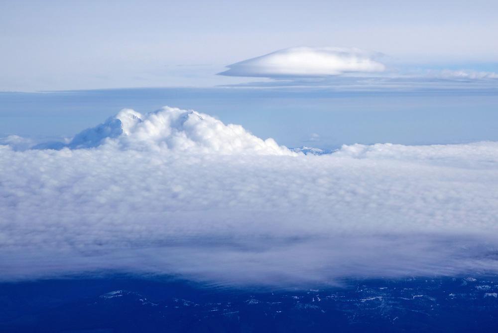 Aerial view of Mt. Rainier, Washington.