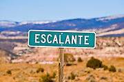 The town sign, Escalante, Utah