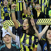 Fenerbahce's supporters during their Turkish superleague soccer match Fenerbahce between Mersin idman Yurdu at the Sukru Saracaoglu stadium in Istanbul Turkey on Sunday 16 September 2012. Photo by TURKPIX